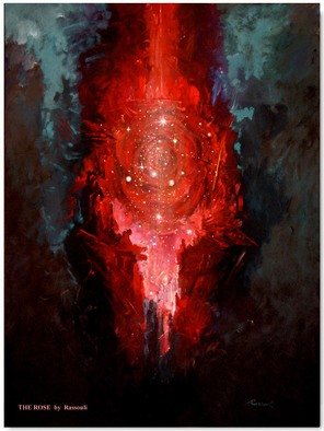 Freydoon Rassouli: 'the rose', 2013 Oil Painting, Abstract Figurative. Artist Description: A mystical painting by Rassouli with Surrealism, symbolism and spiritual touch. ...