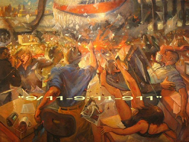Ron Anderson: 911, 2003 Oil Painting