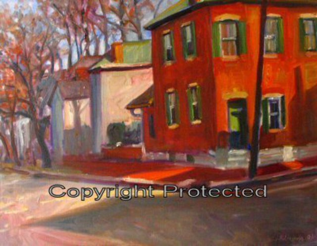 Ron Anderson  'Around The Corner In German Village', created in 2006, Original Painting Oil.