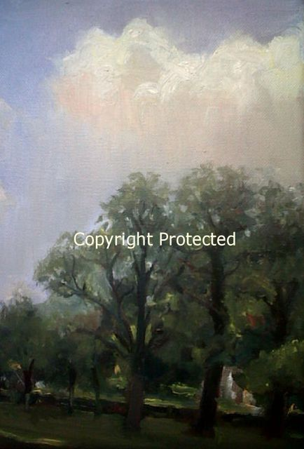 Ron Anderson  'Blue Skies On A Sunny Day', created in 2011, Original Painting Oil.