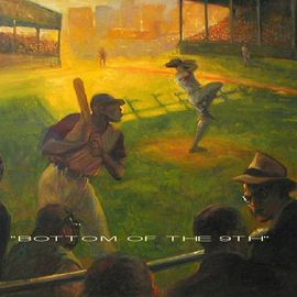 Ron Anderson Artwork Bottom of the 9th, 2004 Oil Painting, Sports