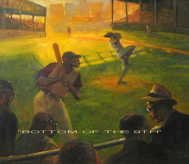 Artist Ron Anderson. 'Bottom Of The 9th' Artwork Image, Created in 2004, Original Painting Oil. #art #artist