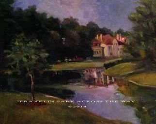 Artist: Ron Anderson - Title: Franklin Park Across The Way - Medium: Oil Painting - Year: 2014