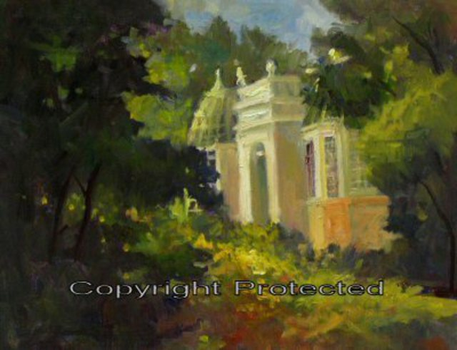Ron Anderson  'Franklin Park Conservatory', created in 2006, Original Painting Oil.