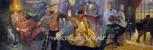 Ron Anderson  'Harlequins Dream', created in 1998, Original Painting Oil.