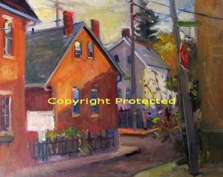 Artist: Ron Anderson - Title: Jackson Street in German Village - Medium: Oil Painting - Year: 2010