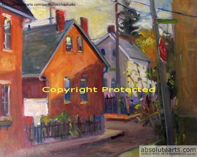 Ron Anderson  'Jackson Street In German Village', created in 2005, Original Painting Oil.