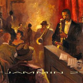 Ron Anderson Artwork Jammin 2, 2010 Oil Painting, Music