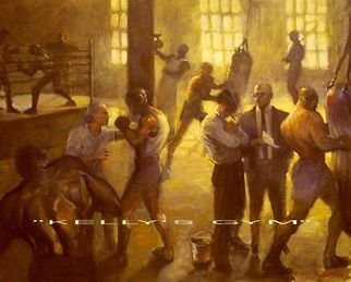 Ron Anderson Artwork Kellys Gym, 2002 Oil Painting, Sports