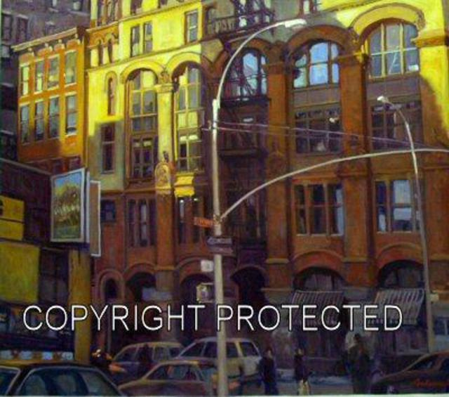 Ron Anderson: Lafayette Street, 2004 Oil Painting