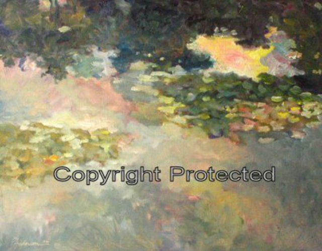 Ron Anderson  'Lilypad', created in 2006, Original Painting Oil.