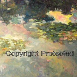 Ron Anderson Artwork Lilypad, 2006 Oil Painting, Landscape