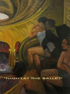 Ron Anderson Artwork Night at the Ballet, 2015 Oil Painting, Figurative
