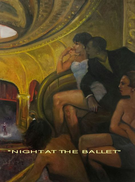 Ron Anderson  'Night At The Ballet', created in 2015, Original Painting Oil.