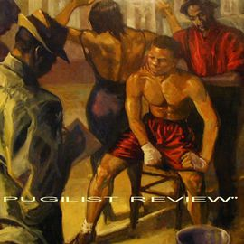 Ron Anderson Artwork Pugilist Review, 2003 Oil Painting, Sports