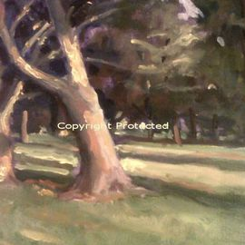 Ron Anderson Artwork Summer in Franklin Park, 2011 Oil Painting, Landscape