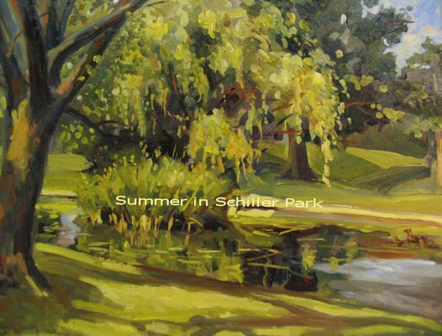 Ron Anderson  'Summer In Schiller Park', created in 2008, Original Painting Oil.