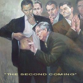 Ron Anderson Artwork The Second Coming, 2012 Oil Painting, Political