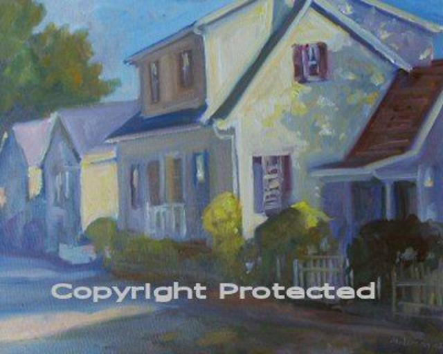 Ron Anderson  'White House In German Village', created in 2005, Original Painting Oil.