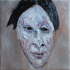 Raul Tripa: 'Head 1', 2009 Oil Painting, Figurative. Artist Description:  expressionist paintingoil on canvas  ...
