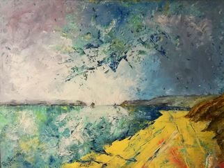 Ray Burnell: 'south beach', 2018 Oil Painting, Landscape. Artist Description: Tenby west wales seascape landscape pembrokeshire...
