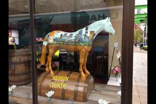 Rebecca L. Baldwin: 'bourbon country', 2015 Acrylic Painting, Americana. Artist Description: Horse designed   Painted for Community Art project...