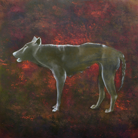 Rebeca Calvogomez Artwork On Humanity IV, 2010 Oil Painting, Dogs