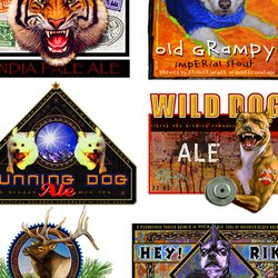 , Selection Of Beer Labels, Wildlife, Request Price