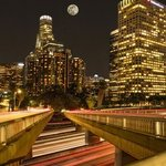 super moon over los angeles By Dick Drechsler