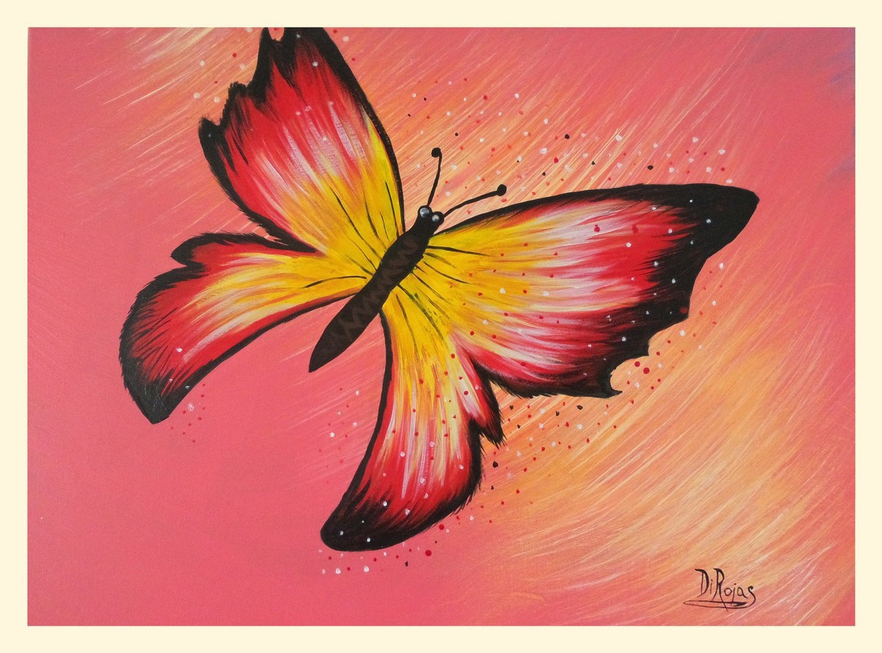 Diana Rojas 'Mystic Butterfly' | Painting Acrylic Artwork ...