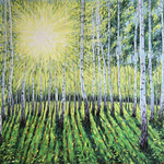 birch grove in spring By Irina Redine