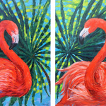 scarlet flamingos By Irina Redine