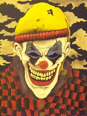 Lora Hill Artwork Macabre, 2010 Acrylic Painting, Clowns