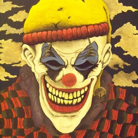 Lora Hill: 'Macabre', 2010 Acrylic Painting, Clowns.
