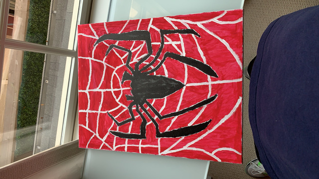 Reese Gould  'Spiderman', created in 2020, Original Painting Other.