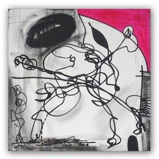 Artist: Regia Marinho - Title: REGIA Marinho ART Abstract Painting ORCHESTRATION  - Medium: Acrylic Painting - Year: 2004