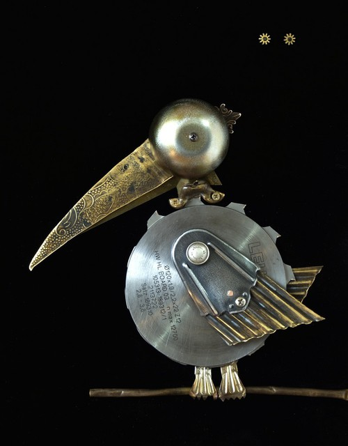 Vladimiras Nikonovas  'Bird C', created in 2011, Original Metalsmith.