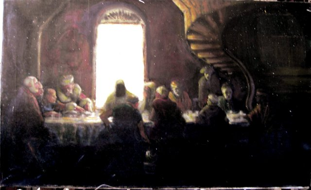 Gerald Wolfert  'Last Supper', created in 2012, Original Painting Oil.