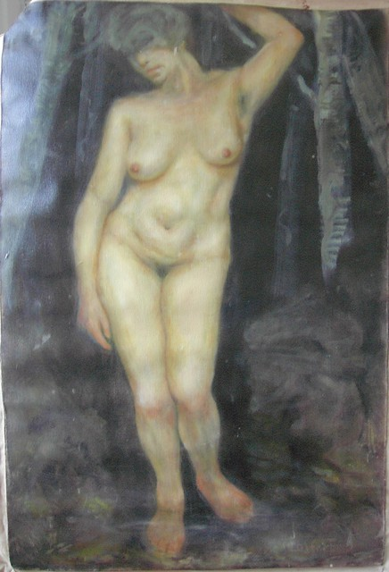 Gerald Wolfert  'Standing Nude', created in 2012, Original Painting Oil.