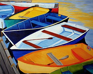 Renee Rutana: 'Among Friends', 2009 Oil Painting, Boating. Rowboat Art,  Rockport, Massachusetts...