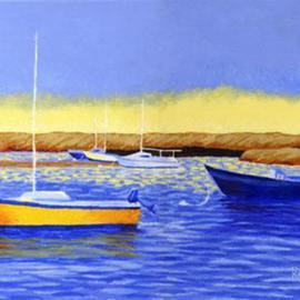 Renee Rutana: 'Boat Meadow Beach', 2004 Acrylic Painting, Seascape. Artist Description: This was a scene I painted from Cape Cod. It is painted on gallery wrap canvas and the painting continues on all the sides....
