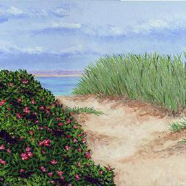 Renee Rutana: 'Intro', 2003 Acrylic Painting, Seascape. Artist Description: This was a quaint little walkway to the beach in Cape Cod that I found....