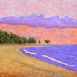 Renee Rutana: 'Tranquillity', 2006 Acrylic Painting, Seascape. Artist Description: A romantic rendering of the Connecticut shore. * This is painted on a gallery wrapped canvas with the painting extending out to all the sides....