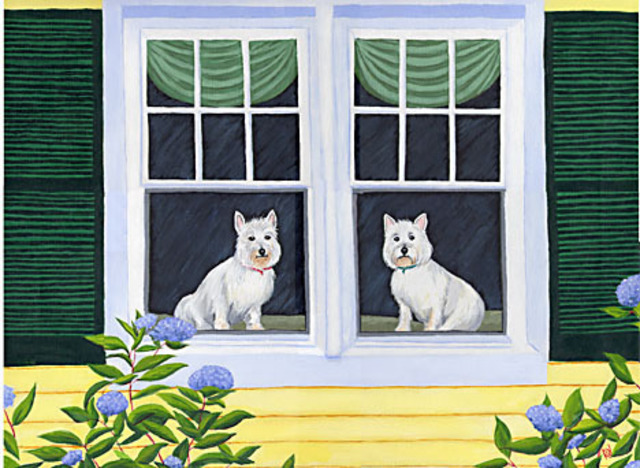 Renee Rutana  'Waiting In The Window', created in 2007, Original Painting Other.
