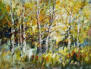 Landscape Acrylic Painting by Mariusz Rutkowski Title: forest, created in 2007