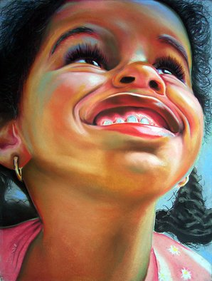 Dennis Rennock: 'The Grinning', 2002 Pastel, Healing. Artist Description:  The Grinning ...