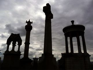 Color Photograph by Robert Reinhardt titled: Glasgow Necropolis, created in 2008