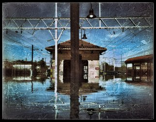 Robert Reinhardt: 'wayne junction', 2017 Digital Art, Travel. Artist Description: Trainyards, Transportation, Floods, Philadelphia...