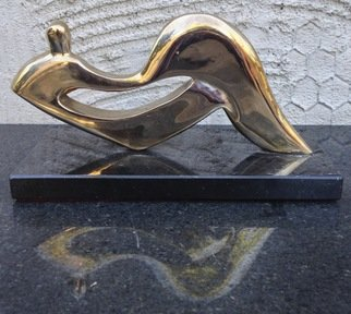 Bronze Sculpture by Richard Eversley titled: Seated Figure, created in 2005