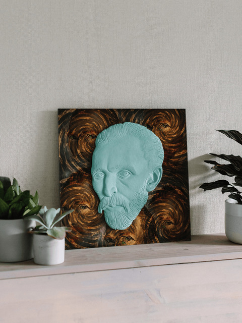 Alexandr And Serge Reznikov  'Vincent Van Gogh The Eyes', created in 2018, Original Sculpture Mixed.